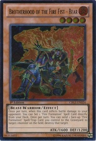 3x Yugioh Brotherhood of the Fire Fist Bear CT10-EN008 Super NM ~ Fast Shipping!