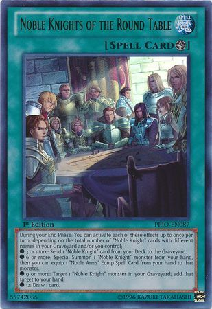 Force Of Will Knights Of The Round Table.Noble Knights Of The Round Table Prio En087 Ultra Rare 1st Edition