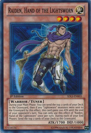 Raiden Hand Of The Lightsworn Sdli En003 Super Rare