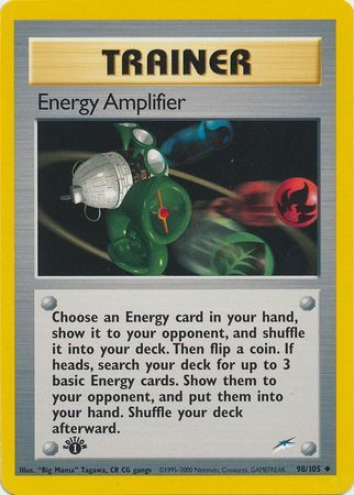 Pokemon Neo Destiny Uncommon Card #98//105 Energy Amplifier