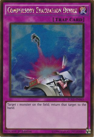 Compulsory Evacuation Device Secret Rare LCJW-EN291 Yu-gi-oh 1st edition LP