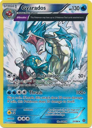 Gyarados Xy Ancient Origins Reverse Holo Pokemon Trollandtoad