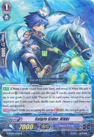 Kelpie Rider, Nikki - G-BT02/031EN - Rare (R) - G Booster Set 2: Soaring  Ascent of Gale & Blossom [G-BT02] - Cardfight!! Vanguard