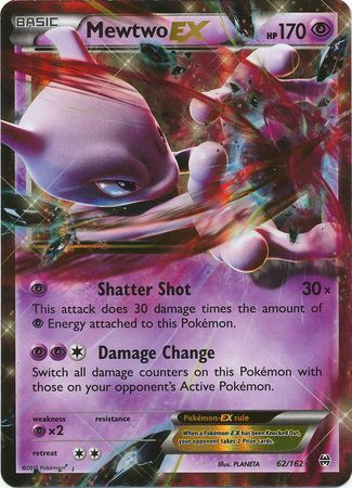 Mewtwo Ex 62 162 Ultra Rare Xy Breakthrough Singles