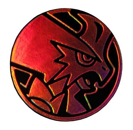 Pokemon Mega Blaziken Collectible Coin Orange Rainbow Mirror
