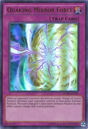 Quaking Mirror Force Bosh En076 Ultra Rare Unlimited