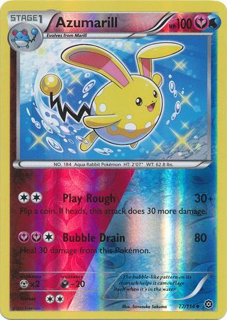 Azumarill 77 114 Uncommon Reverse Holo Xy Steam
