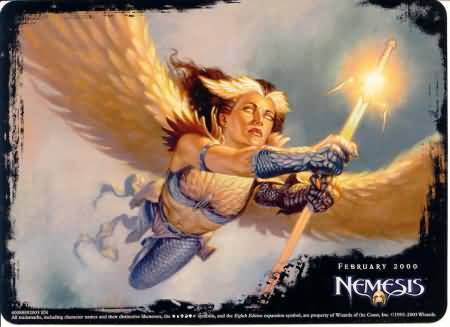 Angel NM! MAGIC The Gathering {Blinding Angel} Creature