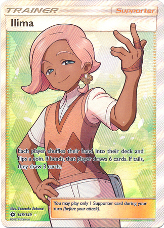 Sun and Moon 146//149 Pokemon Full Art Ilima
