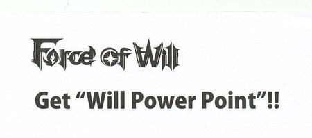 Force of Will TCG Will Power Point Qr Code Card