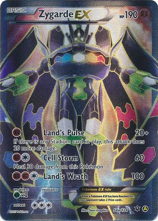 Zygarde Ex 54a 124 Full Art Promo Pokemon Xy Promos