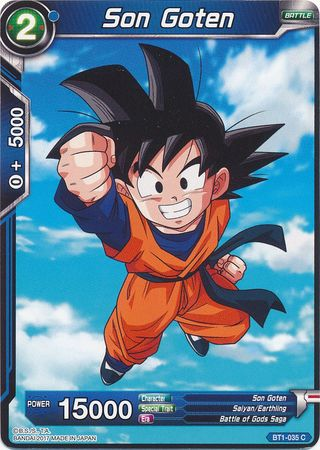 son goten bt1 035 common galactic battle singles dragonball