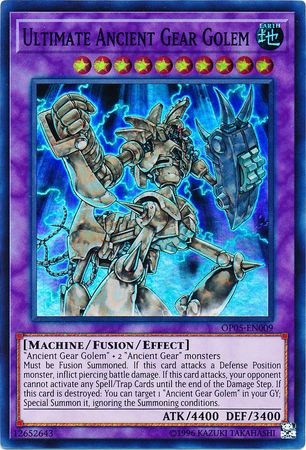 Ultimate Ancient Gear Golem - OP05-EN009 - Super Rare