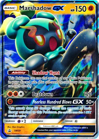 Marshadow Gx Sm59 Promo Pokemon Sun Amp Moon Promos