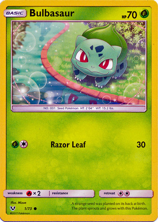 Bulbasaur 1 73 Common Sun Amp Moon Shining Legends