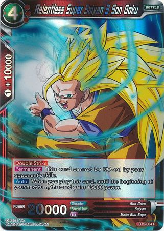 relentless super saiyan 3 son goku bt2 004 rare union force
