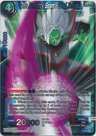 Verzamelingen Dragon Ball Super Card Game The Almighty Beam Fused Zamasu P-011 PR Losse kaarten spellen