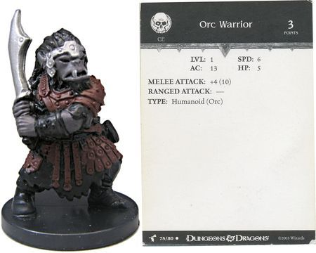 Orc Warrior #75 Harbinger D&D Miniatures