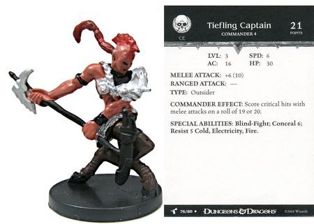 Tiefling Captain #76 Harbinger D&D Miniatures