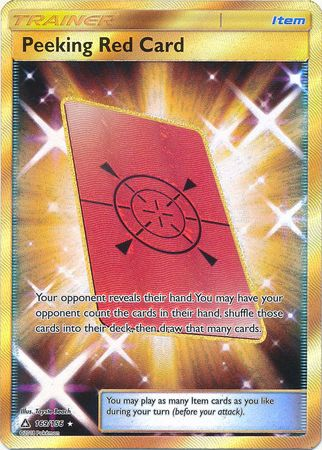 Peeking Red Card 169 156 Secret Rare Sun Amp Moon
