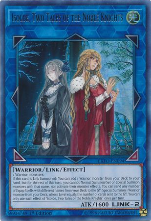 Isolde Two Tales Of The Noble Knights Exfo En094 Ultra Rare 1st Edition Extreme Force