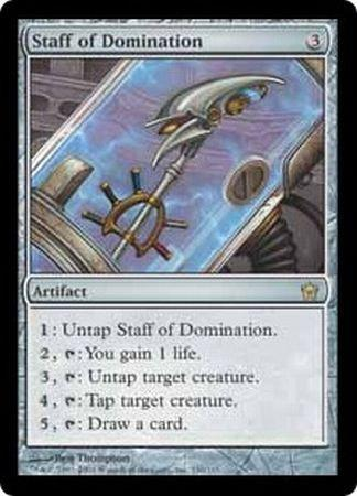 Staff Of Domination Fifth Dawn Singles Magic The Gathering