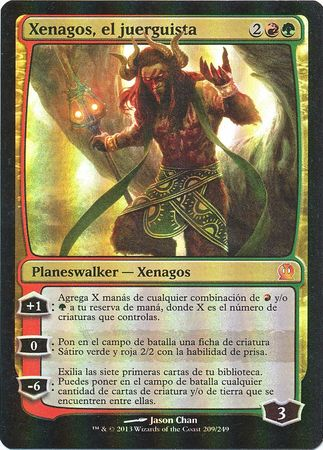 Xenagos El Juerguista Xenagos The Reveler Theros Foil Spanish