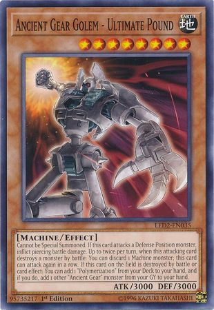 Ancient Gear Golem - Ultimate Pound - LED2-EN035 - Common 1st Edition