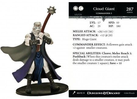 Details about Cloud Giant #62 Giants of Legend D&D Miniatures DDM No  Card/Dice D&D