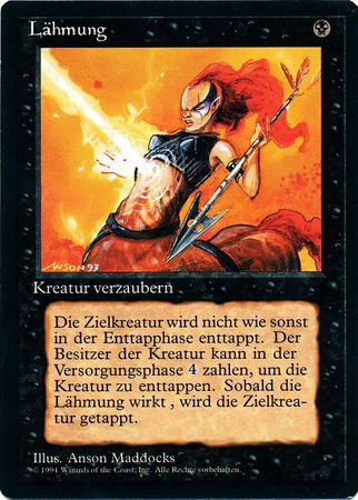 Paralyze Revised Edition Magic the Gathering MTG Card