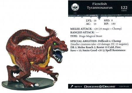 Fiendish Tyrannosaurus 68 Giants Of Legend D Amp D Miniatures