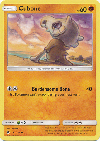 57//131 Cubone Sequin Holo Promo NM Promo Pokemon
