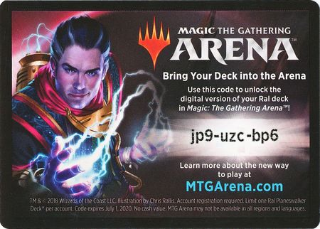 Guilds of Ravnica Ral Planeswalker Deck Unused Code Card (Magic: The  Gathering Arena)
