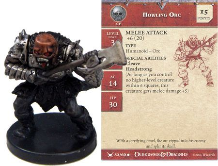 D/&D Miniatures War Drums HOWLING ORC #52 no card