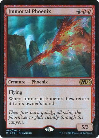 MTG Magic The Gathering M19 Immortal Phoenix Exclusive Gift Box 2018 Foil Card