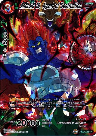 Android 13, Agent of Destruction - BT6-123 - Destruction Rare - Destroyer  Kings Foil Singles - Dragonball Super Card Game