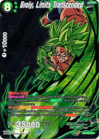 Broly Limits Transcended BT6-060 SPR Dragon Ball Super TCG Near Mint