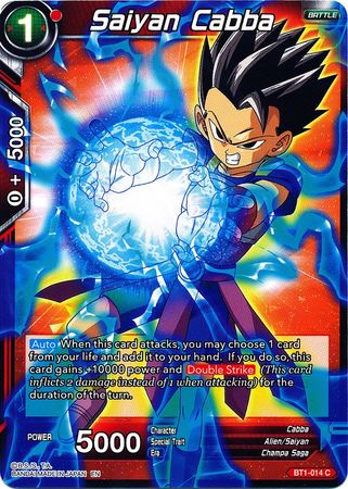 BT1-014 Dragon Ball Super Saiyan Cabba Foil Alternate Art Promo