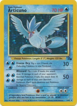 Articuno 2 62 Holo Unlimited Fossil Unlimited