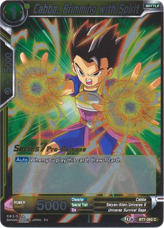 Cabba Brimming with Spirit BT7-082 C FOIL Dragon Ball Super TCG NEAR MINT