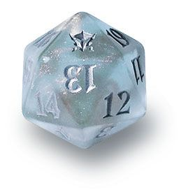 Magic the Gathering Accessory!! ORIGINS Blue//White Speckled Spin Down D20!
