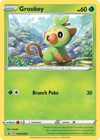Grookey Pokemon Sword Shield Promos Pokemon Trollandtoad Along with scorbunny and sobble. grookey swsh001 promo