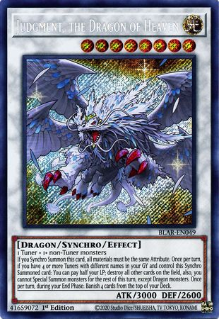 THE DRAGON OF ANNIHILATION SECRET NEAR MINT 1ST ED BLAR-EN050 YUGIOH DARK ARMED