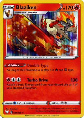 Blaziken 024//189 Pokemon Darkness Ablaze Holofoil Rare Fire New Fresh Pack