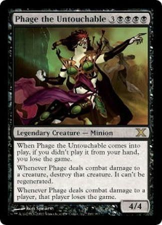 phage the untouchable mtg 10th edition singles magic the gathering