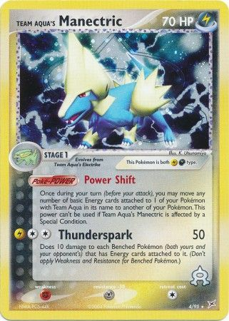 Team Aqua's Manectric - 4/95 - Holo Rare - Ex Team Magma vs  Team Aqua  Singles - Pokemon