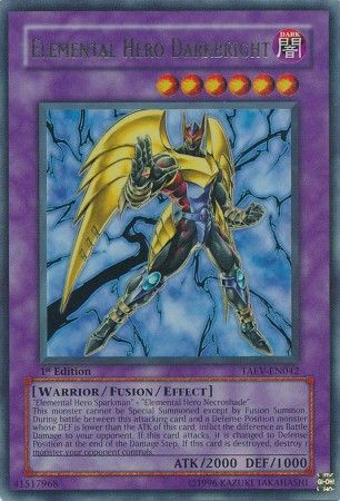 U New Elemental HERO Darkbright LCGX-EN063 Super Rare Yu-Gi-Oh Card
