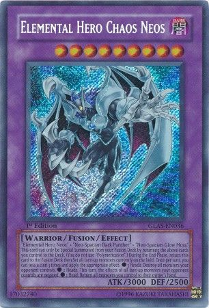 Elemental Hero Chaos Neos Glas En036 Secret Rare