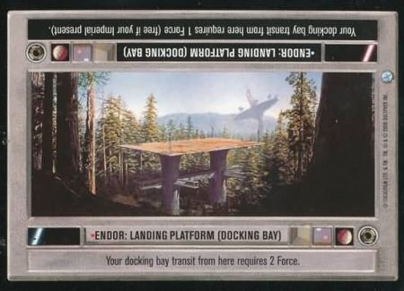 CCG STAR WARS ENDOR RARE FOIL CARD LANDING PLATFORM DOCKING BAY DECIPHER