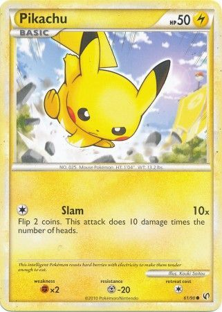 HGSS UNDAUNTED EXPANSION PIKACHU 61/90 POKEMON TCG